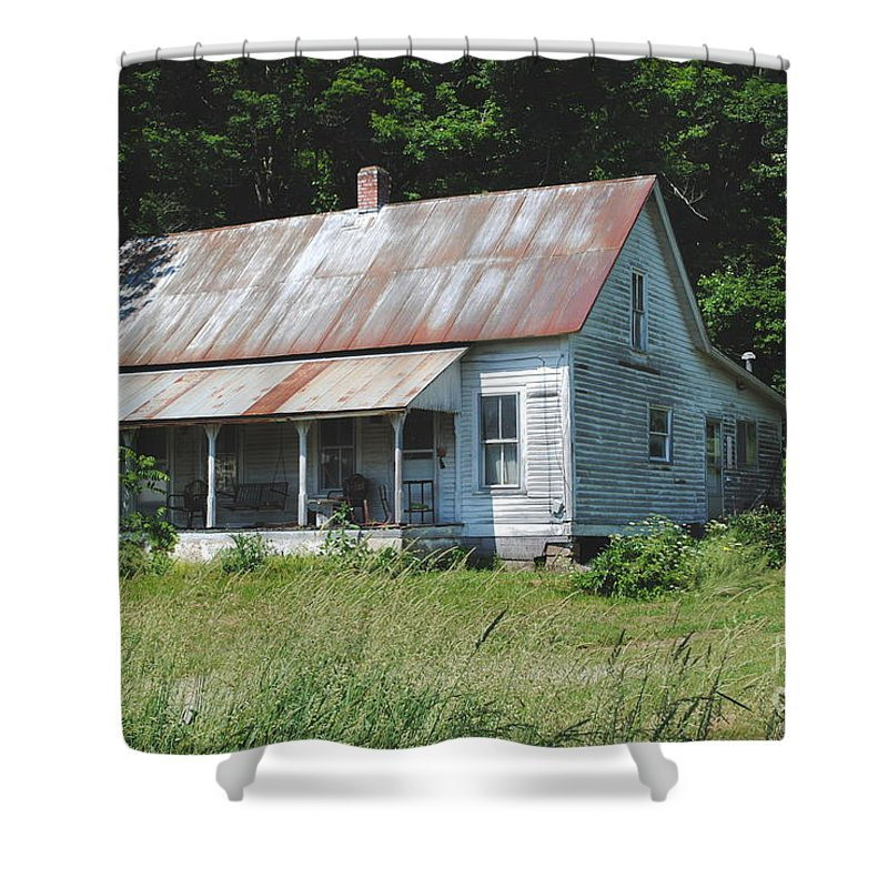 Shack Shower Curtain featuring the photograph Country Home by Jost Houk