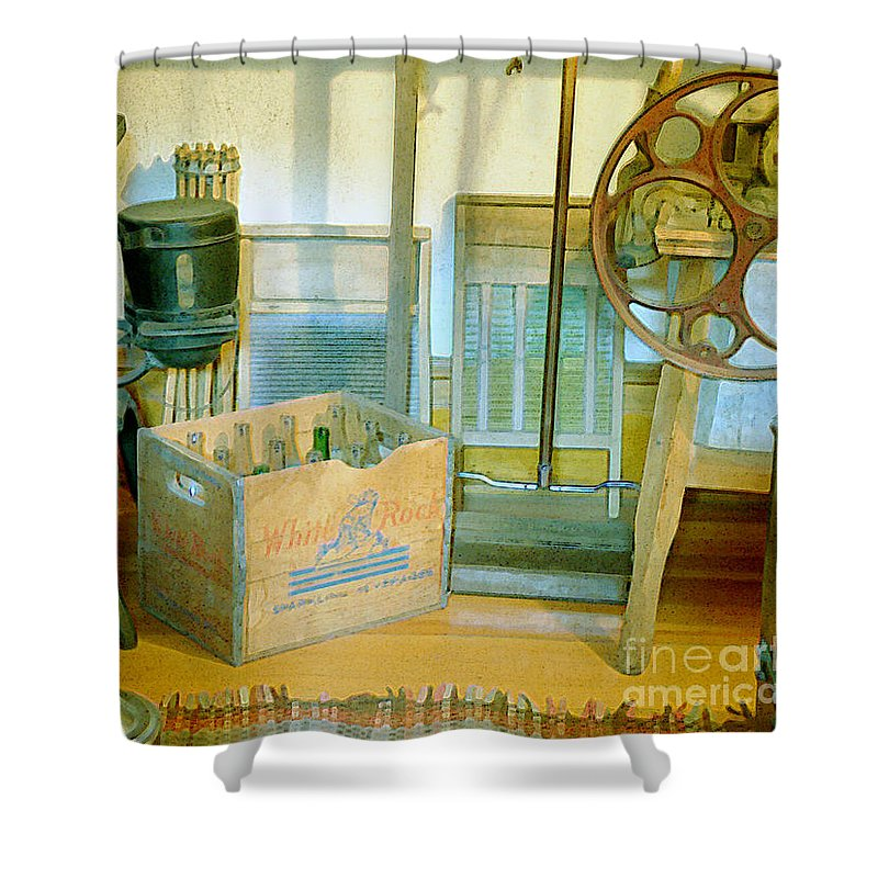 Kitchen Shower Curtain featuring the painting Country Kitchen Sunshine II by RC DeWinter