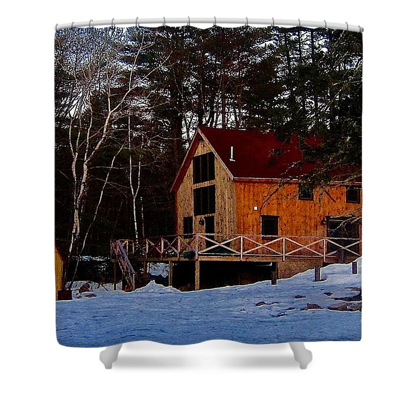 Rustic House Shower Curtain featuring the photograph Country Living, Two by Elizabeth Tillar