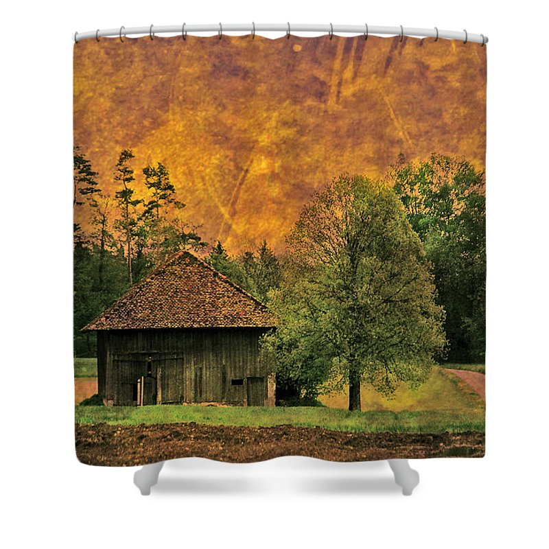 Country Side Shower Curtain featuring the photograph Country Road - Take Me Home by Susanne Van Hulst