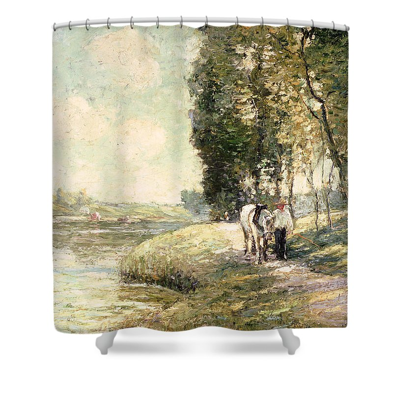 Country Road To Spuyten Shower Curtain featuring the painting Country Road To Spuyten by Ernest Lawson
