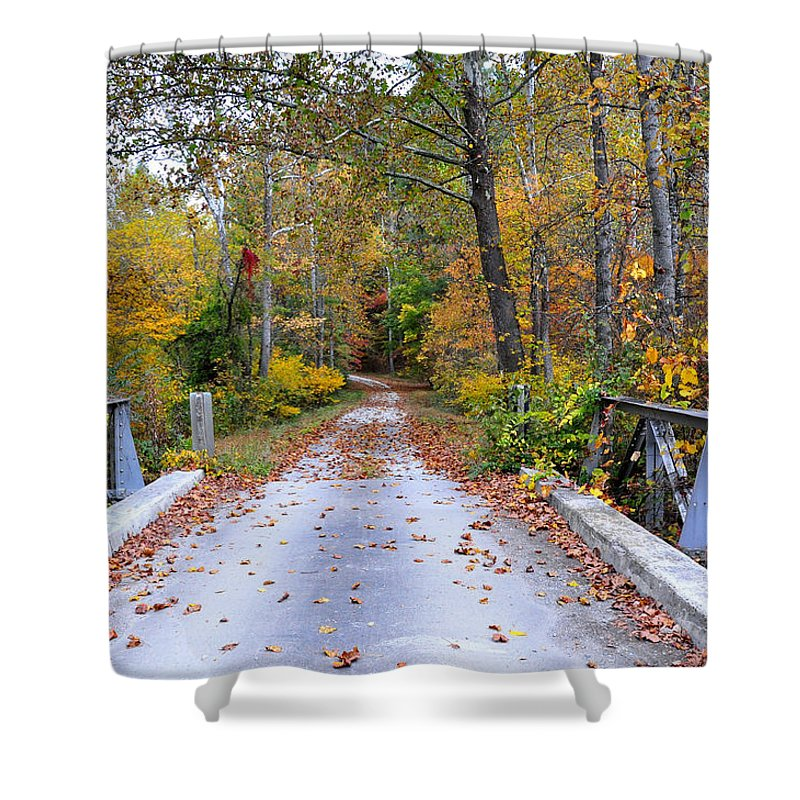 Country Road Shower Curtain featuring the photograph Country Road by Todd Hostetter