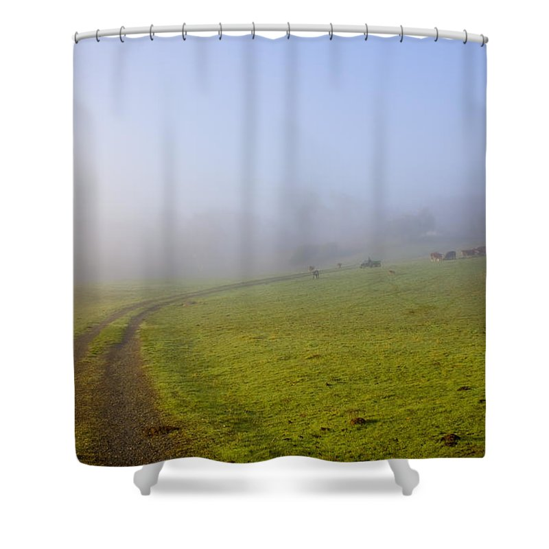 Road Shower Curtain featuring the photograph Country Roads by Mike Dawson
