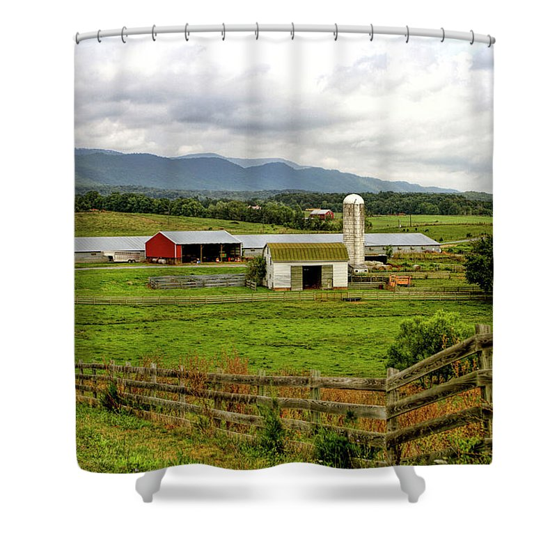 Recent Shower Curtain featuring the photograph Country Scenic In West Virginia by Geraldine Scull