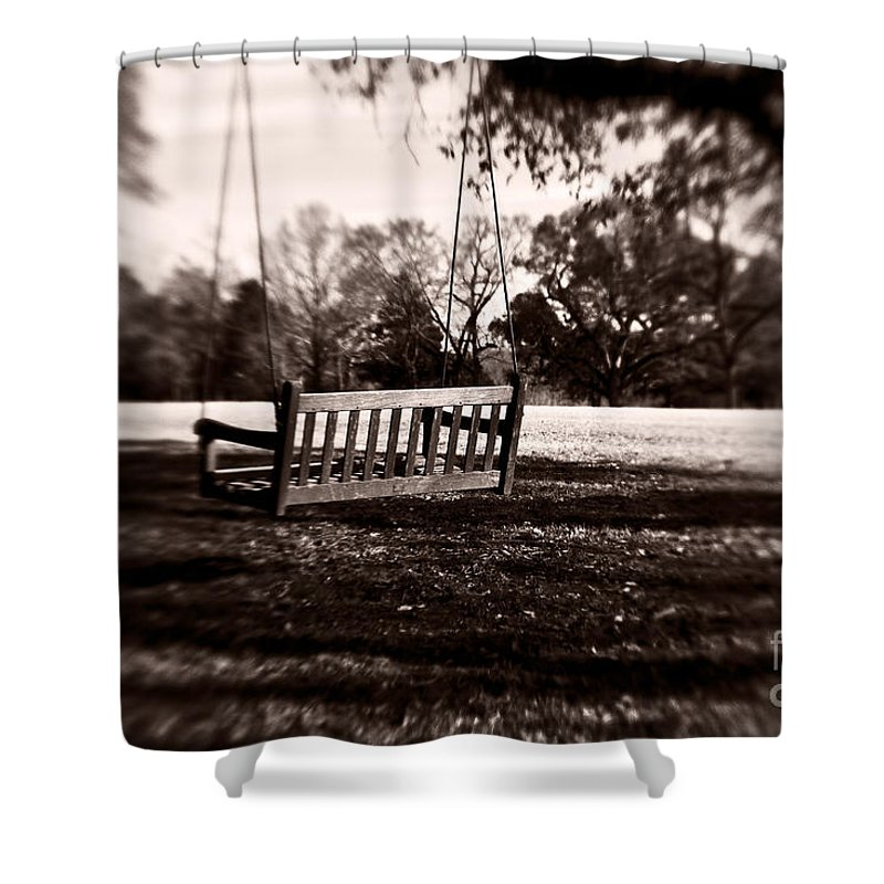 Swing Shower Curtain featuring the photograph Country Swing by Scott Pellegrin