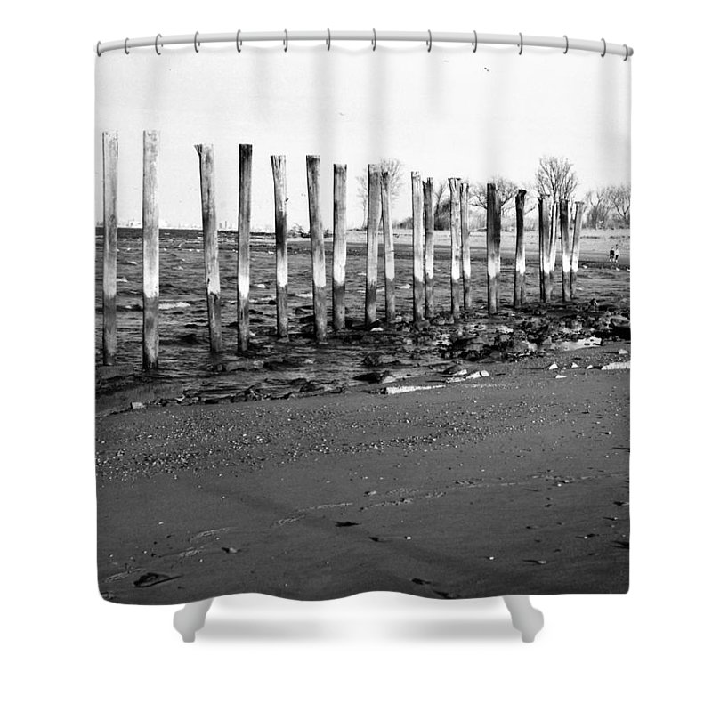 Couple Shower Curtain featuring the photograph Couple On Beach by Carmine Taverna