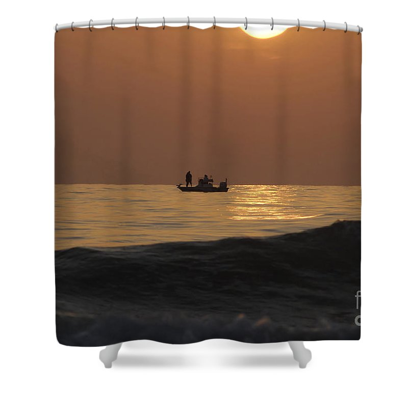 Sunset Shower Curtain featuring the photograph Couples At Sunset by David Lee Thompson