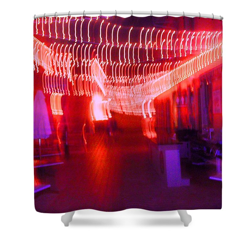 Photograph Shower Curtain featuring the photograph Courtside Lounge 2 by Thomas Valentine