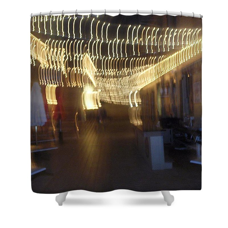 Photograph Shower Curtain featuring the photograph Courtside Lounge by Thomas Valentine