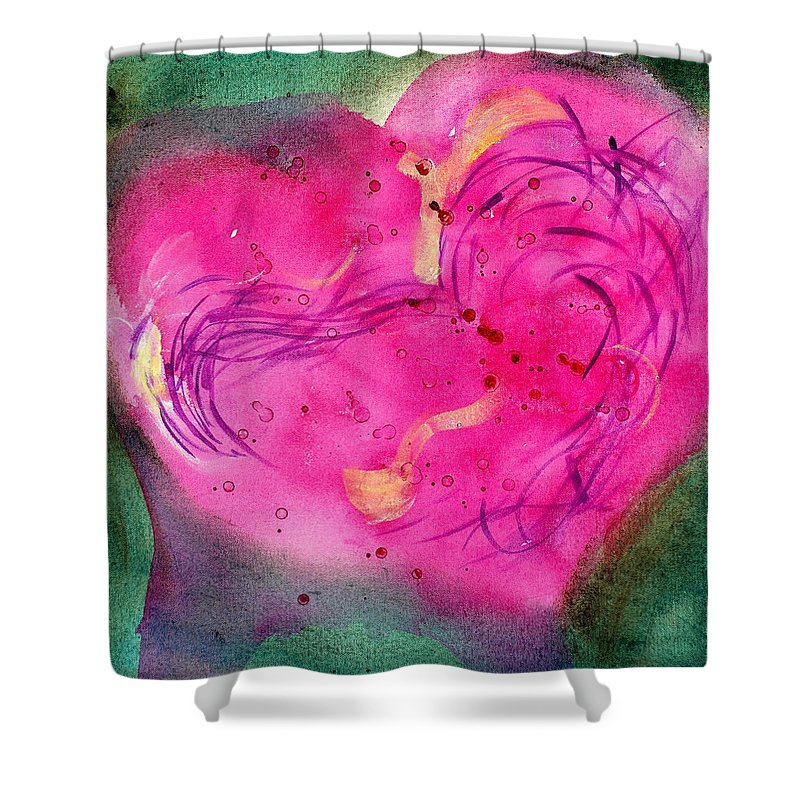 Shower Curtain featuring the painting Cover by Mary Leonard