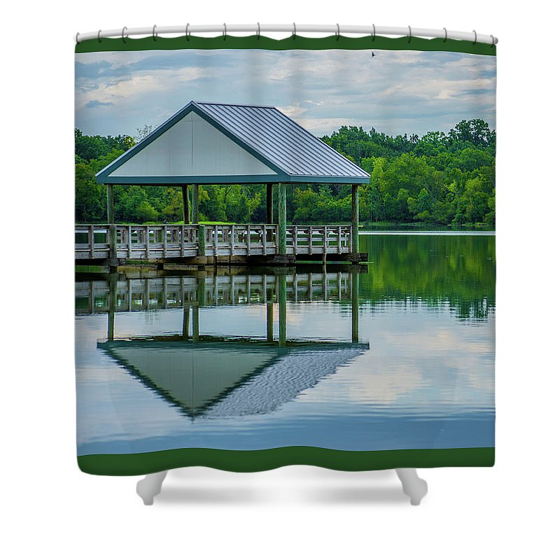 Dock Shower Curtain featuring the photograph Covered Dock by Jason Wade