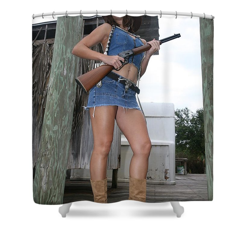 Cowgirl Boots Sexy Glamorous Sexy Female Shower Curtain featuring the photograph Cowgirl 020 by Lucky Cole