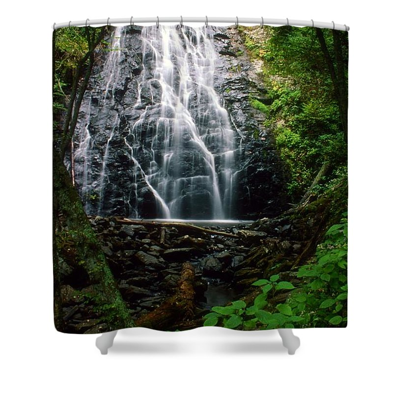 North Carolina Waterfalls Shower Curtain featuring the photograph Crabtree Falls #2 by Terry Dickinson
