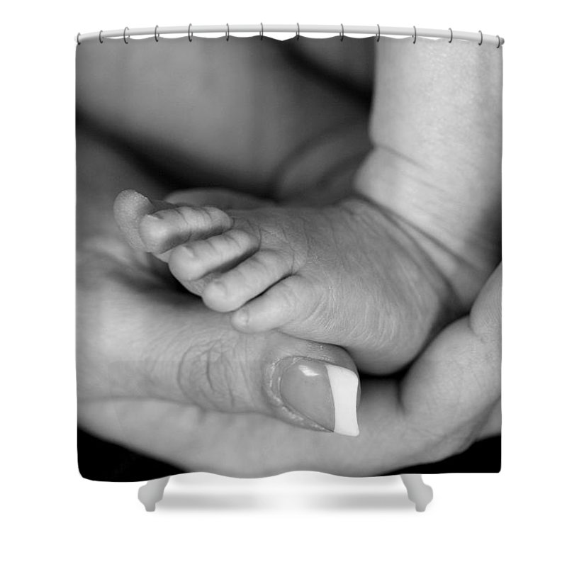Baby Shower Curtain featuring the photograph Cradled by Angela Rath