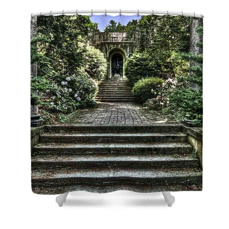 Cranbrook Shower Curtain featuring the photograph Cranbrook Staircase by Chris Fleming