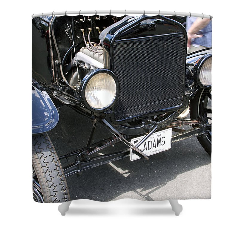 Cars Shower Curtain featuring the photograph Crank by Gerald Mitchell
