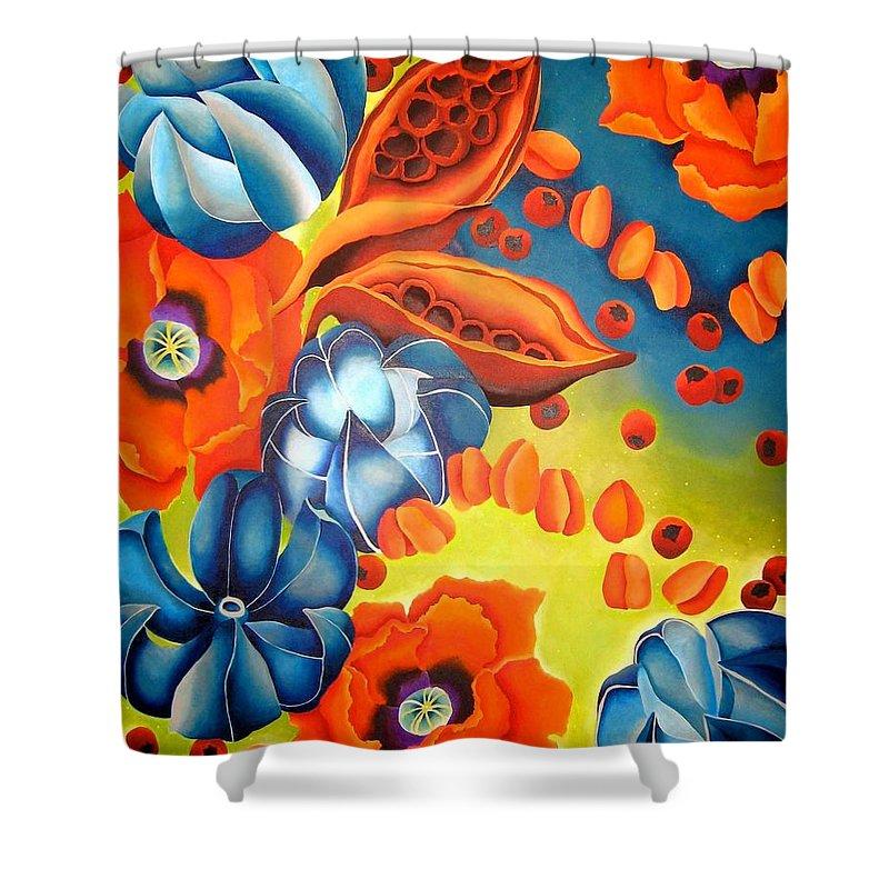 Crape Myrtle Shower Curtain featuring the painting Crape Myrtle by Elizabeth Elequin