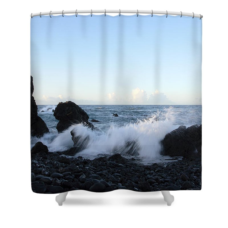 Waves Shower Curtain featuring the photograph Crashing Wave by Phil Crean