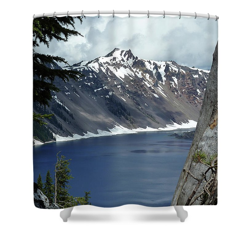 Crater Lake 6 Shower Curtain featuring the photograph Crater Lake 6 by Methune Hively
