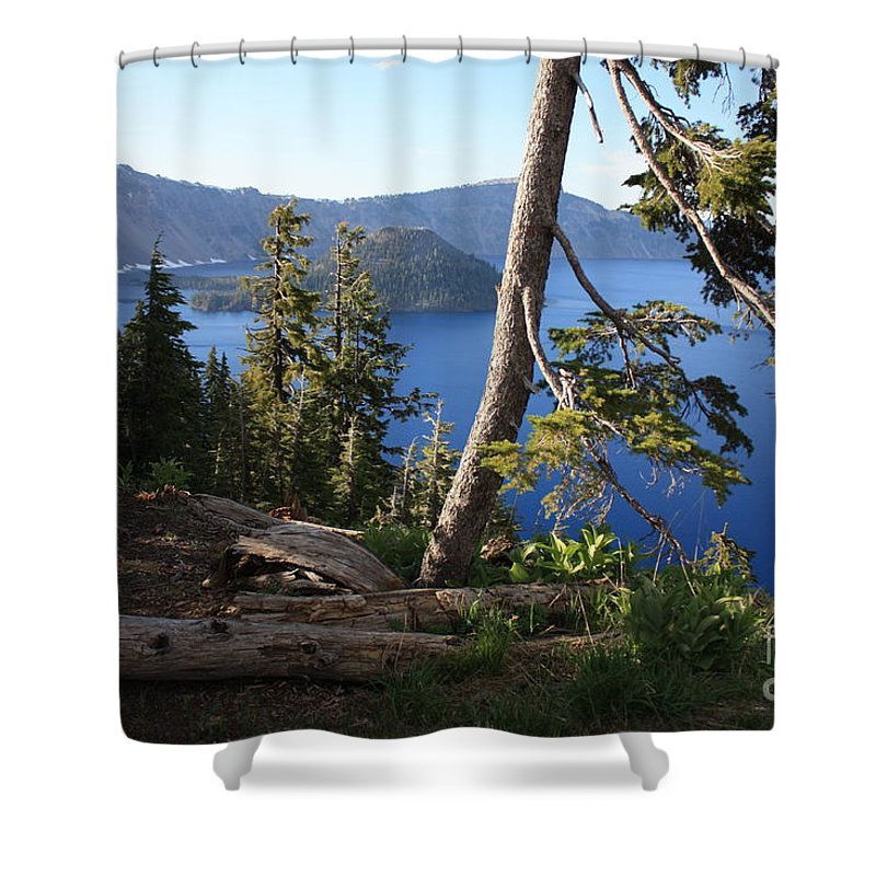 Crater Lake Shower Curtain featuring the photograph Crater Lake 9 by Carol Groenen