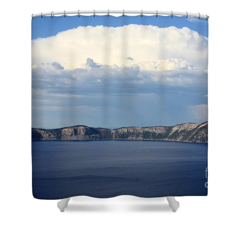 Clouds Shower Curtain featuring the photograph Crater Lake by Carol Groenen