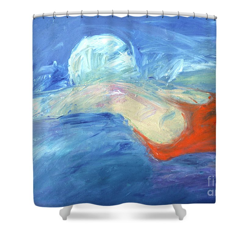 Water Shower Curtain featuring the painting Crawl by Lisa Baack