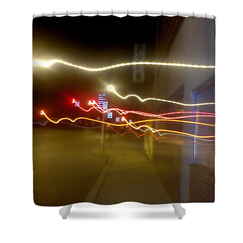 Photograph Shower Curtain featuring the photograph Crazy Duke Street Lights by Thomas Valentine