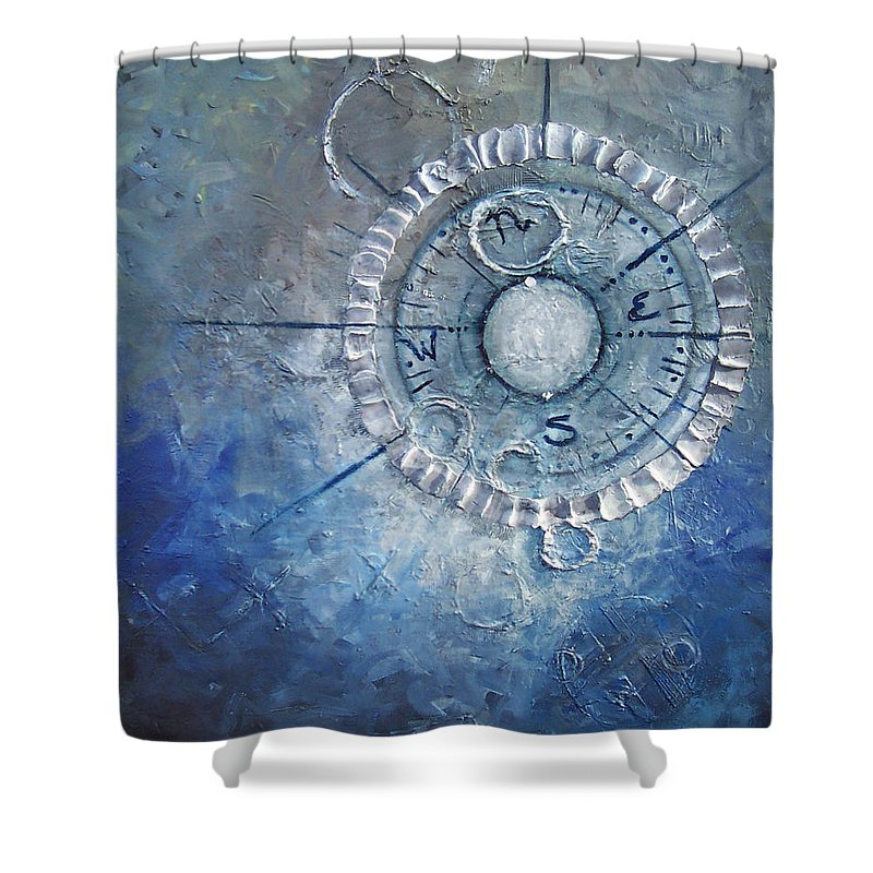 Contemporary Shower Curtain featuring the painting Creation by Laura Sherrill
