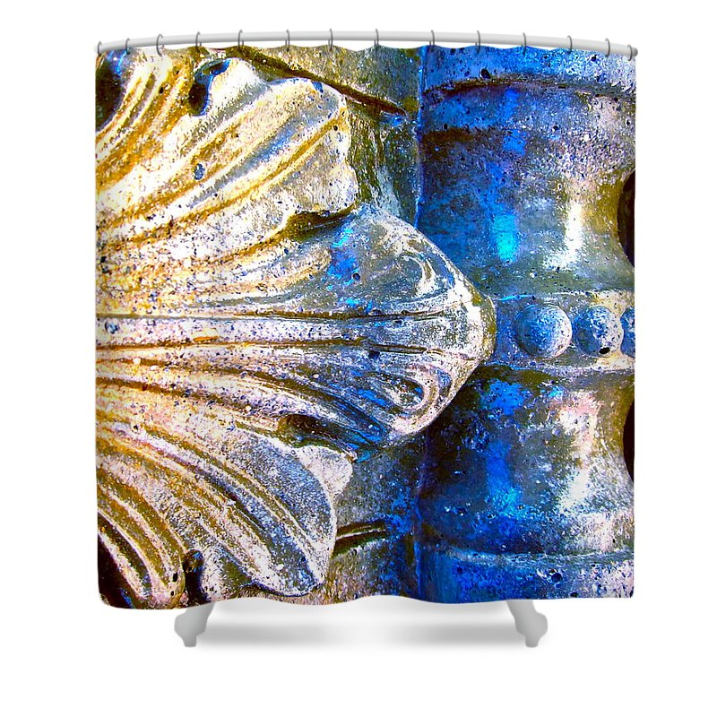 Photograph Of Concrete Shower Curtain featuring the photograph Creative Concrete by Gwyn Newcombe