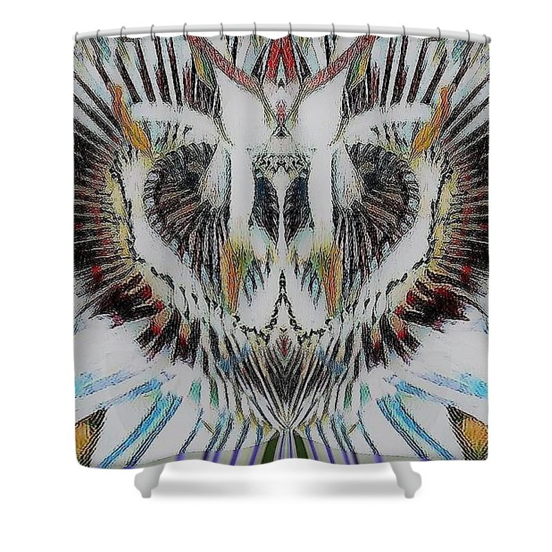Flower Shower Curtain featuring the photograph Creative Design by Pauline Dawkins