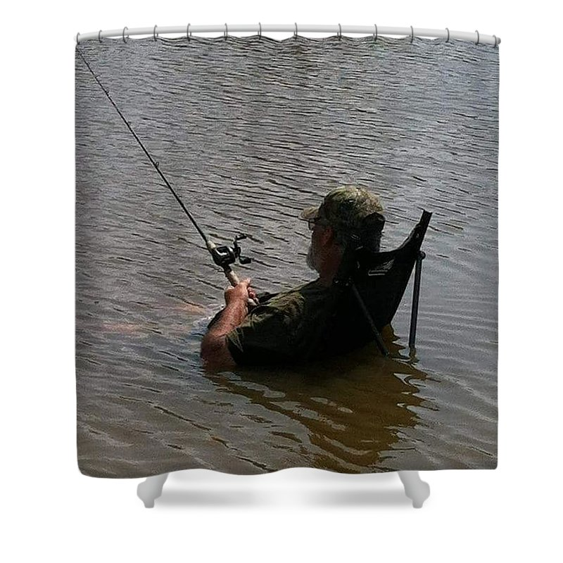Creative Shower Curtain featuring the photograph Creative Fishing by Cindy Riley
