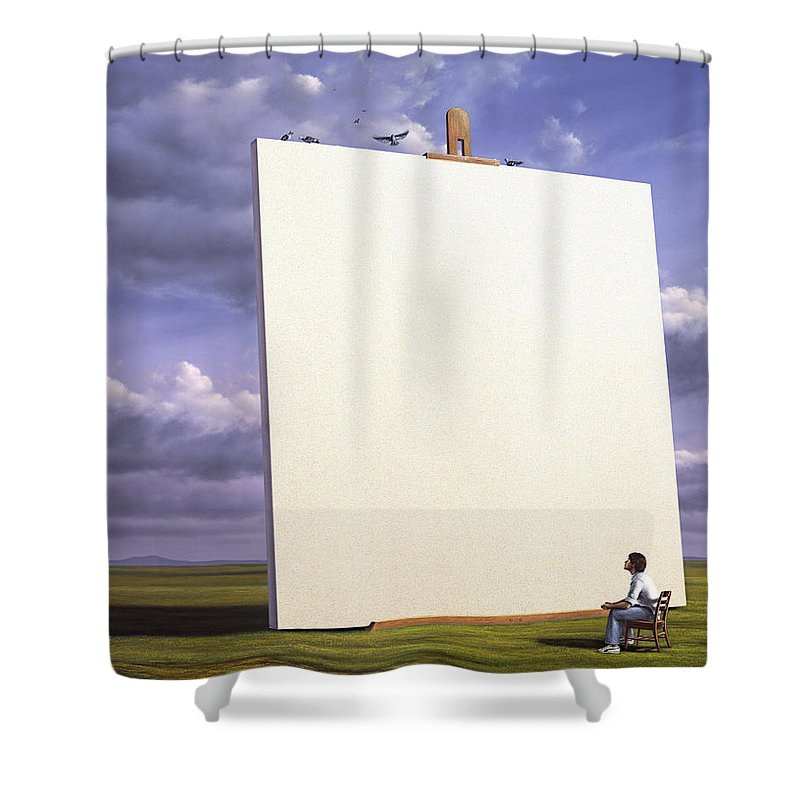 Easel Shower Curtains