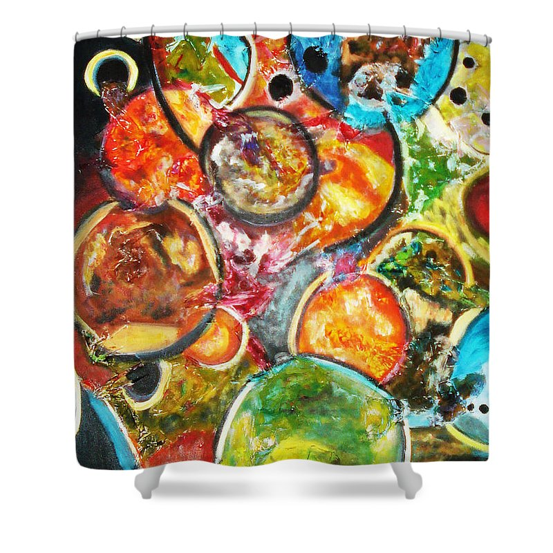 Acrylic Painting Shower Curtain featuring the painting Creative by Yael VanGruber