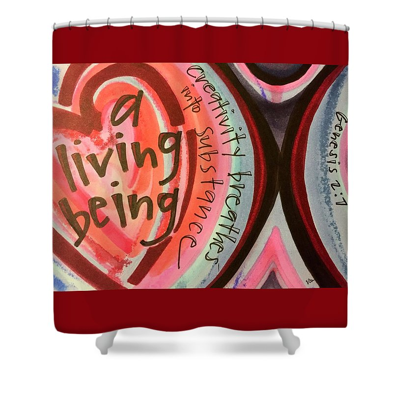 Creativity Shower Curtain featuring the painting Creativity Breathes by Vonda Drees