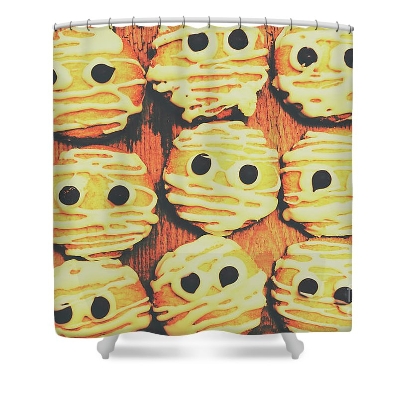 Sweet Shower Curtain featuring the photograph Creepy And Kooky Mummified Cookies by Jorgo Photography - Wall Art Gallery
