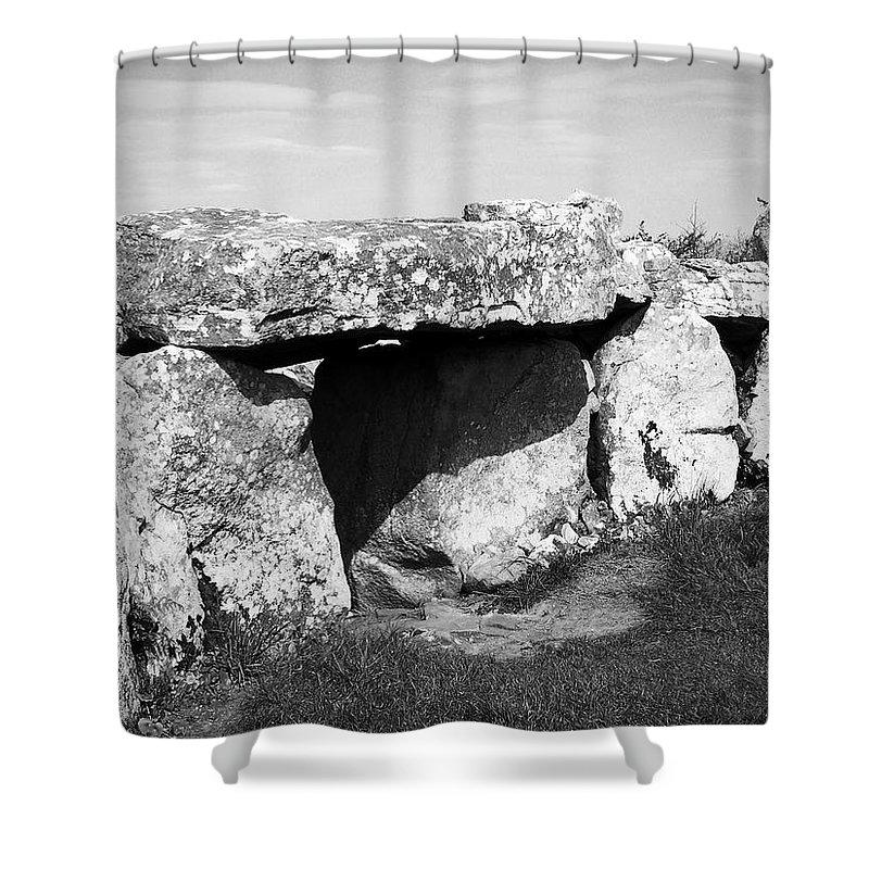 Ireland Shower Curtain featuring the photograph Creevykeel Court Cairn County Sligo Ireland by Teresa Mucha