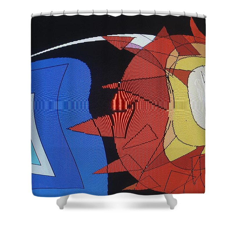 Abstract Shower Curtain featuring the digital art Crescendo One by Ian MacDonald