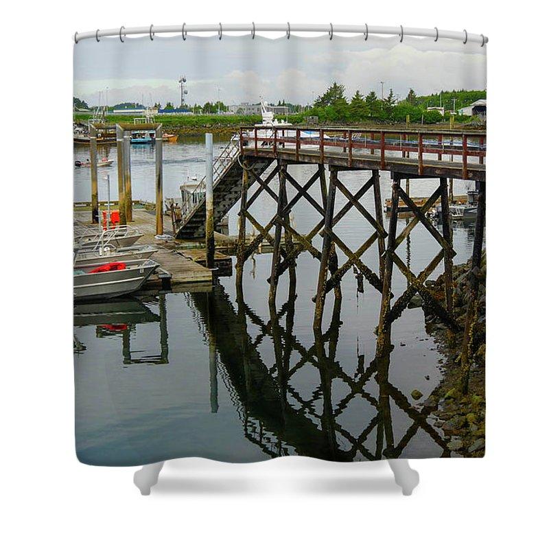 Alaska Shower Curtain featuring the photograph Crescent Harbor by Maxine Kamin