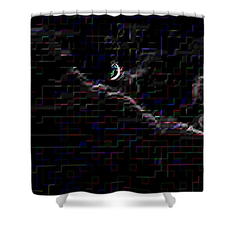 Moon Shower Curtain featuring the photograph Crescent Rising by Tim Allen
