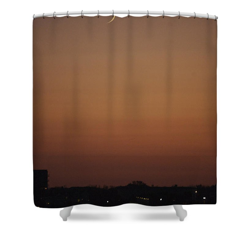 Crescent Shower Curtain featuring the photograph Crescent Sunset by Faith Harron Boudreau