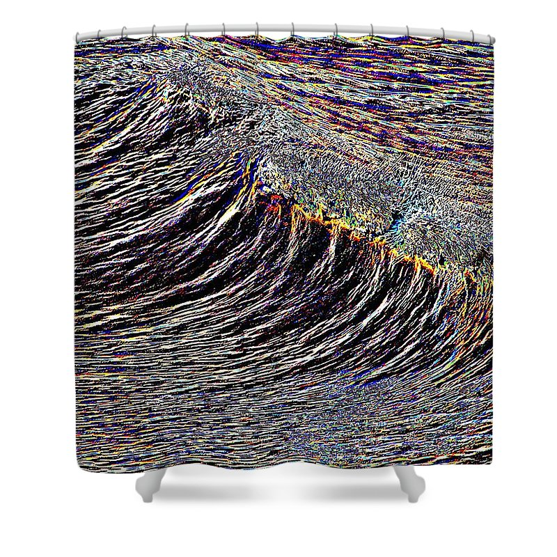 Waves Shower Curtain featuring the photograph Cresting by Tim Allen