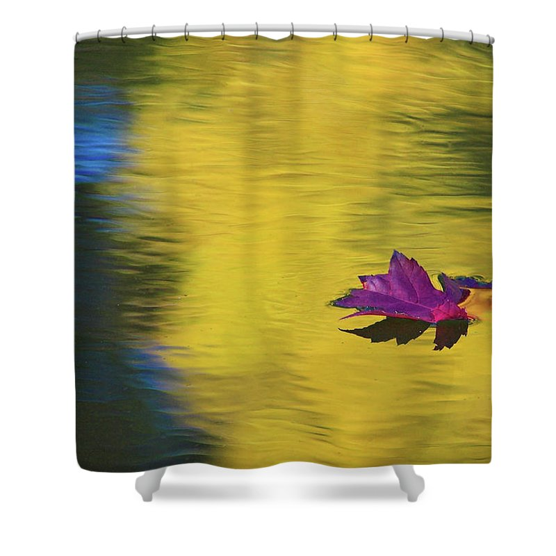 Fall Color Shower Curtain featuring the photograph Crimson And Gold by Steve Stuller
