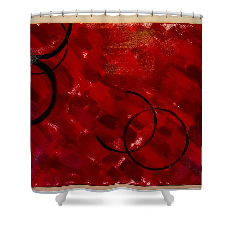 Crimson Shower Curtain featuring the painting Crimson by Jacie Garcia