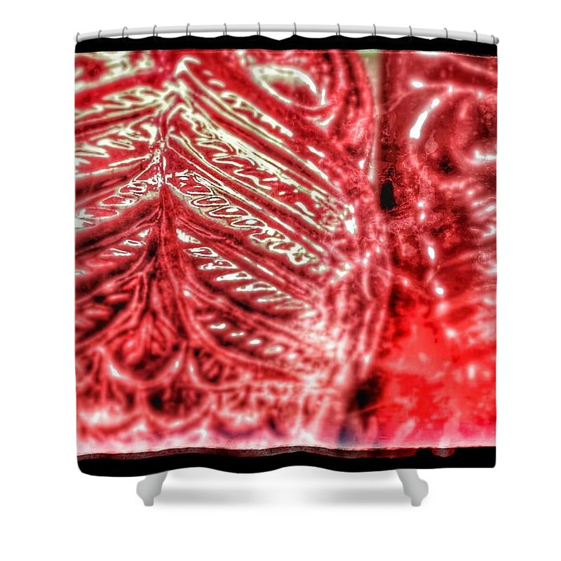 Fall Shower Curtain featuring the photograph Crimson Owls by Christine Paris