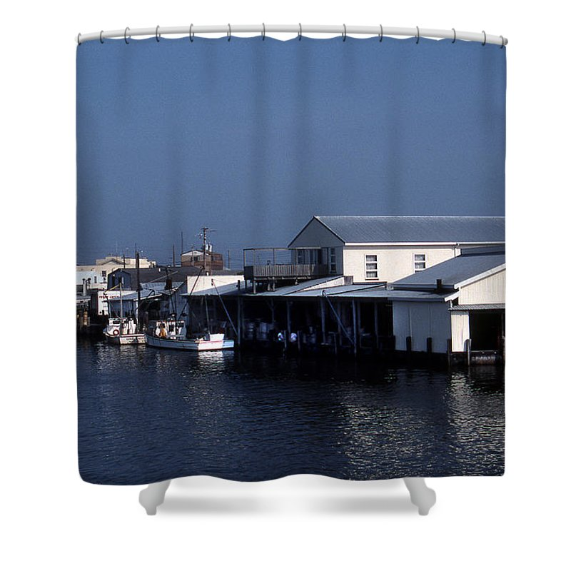 Scenic Tours Shower Curtain featuring the photograph Crisfield Md by Skip Willits