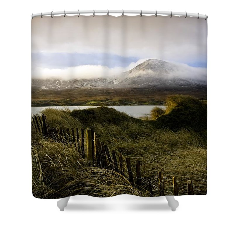 Cloud Shower Curtain featuring the photograph Croagh Patrick, County Mayo, Ireland by Peter McCabe