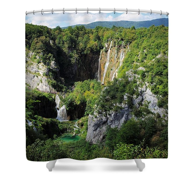 Plitvice Shower Curtain featuring the photograph Croatias Wonders by Piotr Kuzniar