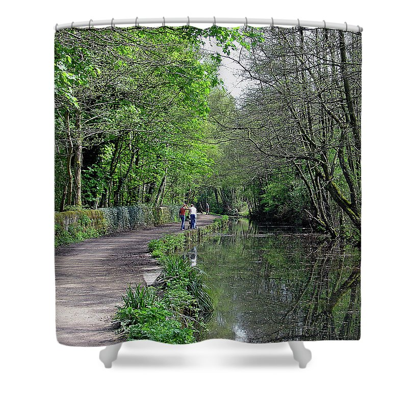 Europe Shower Curtain featuring the photograph Cromford Canal - Tree Lined Walk by Rod Johnson