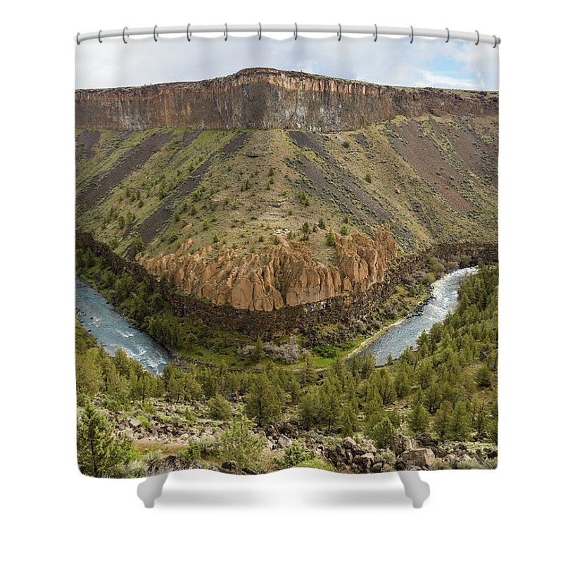 Crooked River Shower Curtain featuring the photograph Crooked River Gorge by Joe Hudspeth