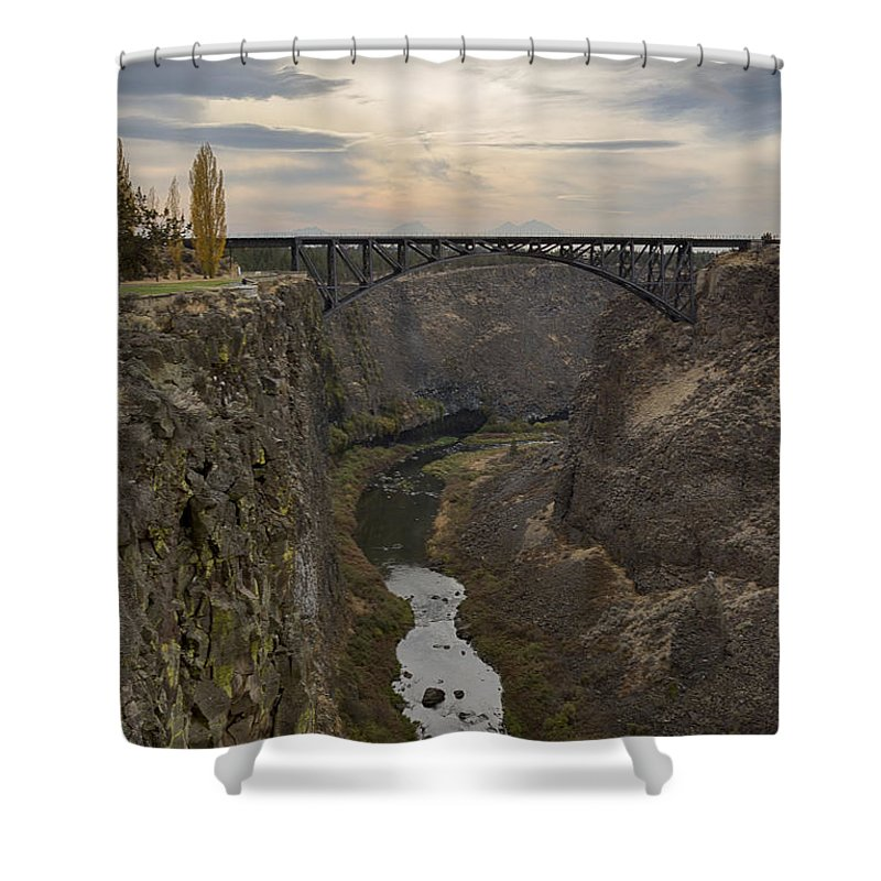 Crooked River Shower Curtain featuring the photograph Crooked River by Idaho Scenic Images Linda Lantzy